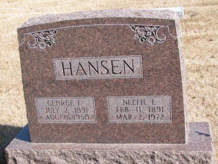 HANSEN, GEORGE EDWARD - Burt County, Nebraska | GEORGE EDWARD HANSEN - Nebraska Gravestone Photos