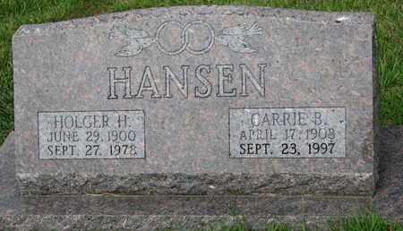 HANSEN, HOLGER H. - Burt County, Nebraska   HOLGER H. HANSEN - Nebraska Gravestone Photos