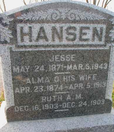 HANSEN, JESSE - Burt County, Nebraska | JESSE HANSEN - Nebraska Gravestone Photos