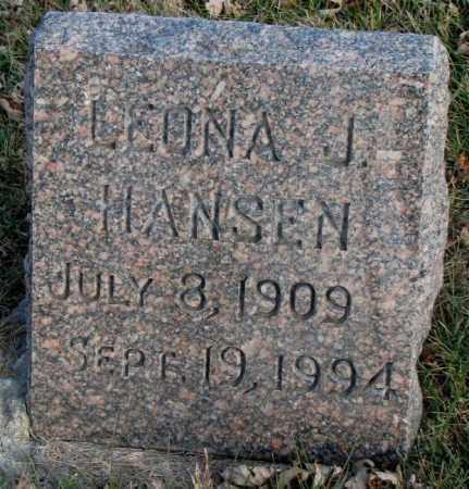 HANSEN, LEONA J. - Burt County, Nebraska   LEONA J. HANSEN - Nebraska Gravestone Photos