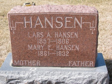 HANSEN, LARS A. - Burt County, Nebraska   LARS A. HANSEN - Nebraska Gravestone Photos