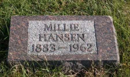 HANSEN, MILLIE - Burt County, Nebraska   MILLIE HANSEN - Nebraska Gravestone Photos