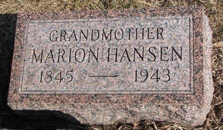 HANSEN, MARION - Burt County, Nebraska | MARION HANSEN - Nebraska Gravestone Photos