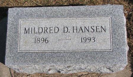HANSEN, MILDRED D. - Burt County, Nebraska | MILDRED D. HANSEN - Nebraska Gravestone Photos