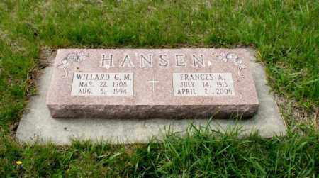 HANSEN, WILLARD G. M. - Burt County, Nebraska | WILLARD G. M. HANSEN - Nebraska Gravestone Photos