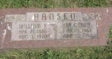 HANSEN, IDA - Burt County, Nebraska | IDA HANSEN - Nebraska Gravestone Photos