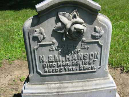 HANSON, AGNES - Burt County, Nebraska | AGNES HANSON - Nebraska Gravestone Photos