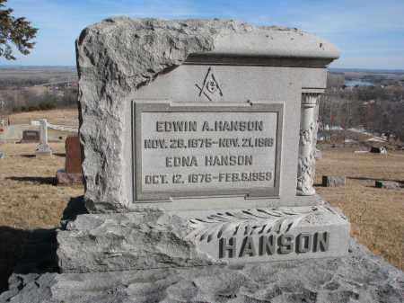 HANSON, EDWIN A. - Burt County, Nebraska   EDWIN A. HANSON - Nebraska Gravestone Photos
