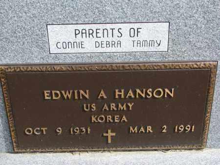 HANSON, EDWIN A. (MILITARY) - Burt County, Nebraska | EDWIN A. (MILITARY) HANSON - Nebraska Gravestone Photos