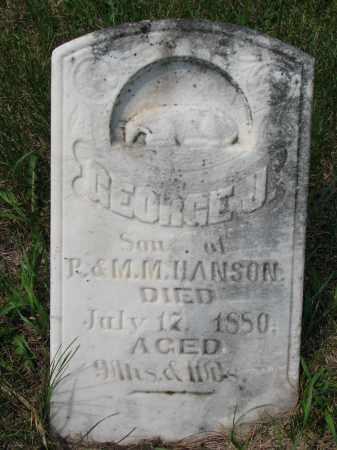 HANSON, GEORGE J. - Burt County, Nebraska   GEORGE J. HANSON - Nebraska Gravestone Photos