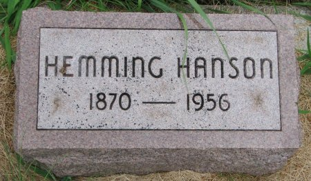 HANSON, HEMMING - Burt County, Nebraska | HEMMING HANSON - Nebraska Gravestone Photos