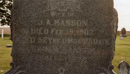 HANSON, JOHN A - Burt County, Nebraska | JOHN A HANSON - Nebraska Gravestone Photos
