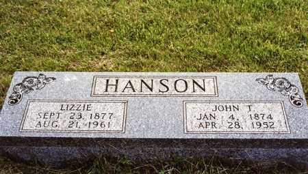 HANSON, LIZZIE - Burt County, Nebraska   LIZZIE HANSON - Nebraska Gravestone Photos