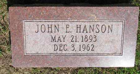 HANSON, JOHN E. - Burt County, Nebraska   JOHN E. HANSON - Nebraska Gravestone Photos