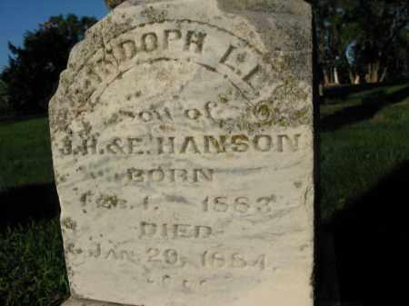 HANSON, LINDOPH L.L. - Burt County, Nebraska   LINDOPH L.L. HANSON - Nebraska Gravestone Photos