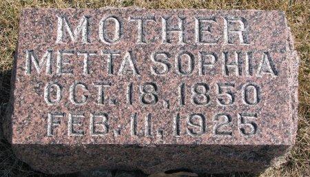 HANSON, METTA SOPHIA - Burt County, Nebraska   METTA SOPHIA HANSON - Nebraska Gravestone Photos
