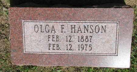 HANSON, OLGA F. - Burt County, Nebraska   OLGA F. HANSON - Nebraska Gravestone Photos