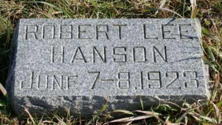 HANSON, ROBERT LEE - Burt County, Nebraska | ROBERT LEE HANSON - Nebraska Gravestone Photos