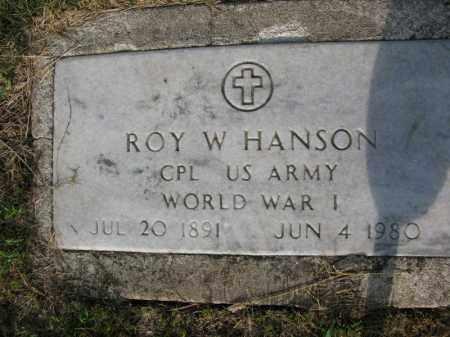 HANSON, ROY W. - Burt County, Nebraska | ROY W. HANSON - Nebraska Gravestone Photos