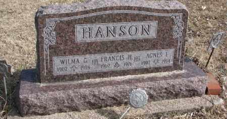 HANSON, FRANCIS H. - Burt County, Nebraska | FRANCIS H. HANSON - Nebraska Gravestone Photos