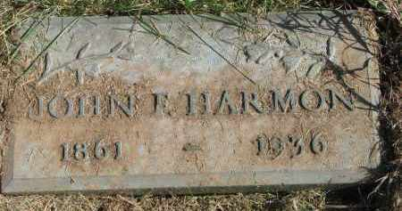 HARMON, JOHN F. - Burt County, Nebraska   JOHN F. HARMON - Nebraska Gravestone Photos