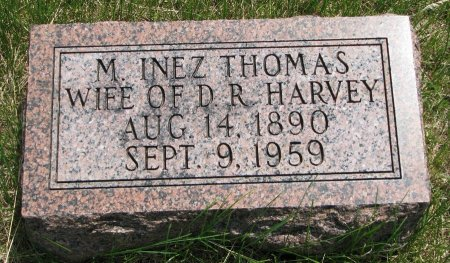 HARVEY, M. INEZ - Burt County, Nebraska | M. INEZ HARVEY - Nebraska Gravestone Photos