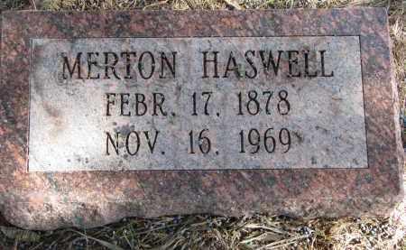HASWELL, MERTON - Burt County, Nebraska | MERTON HASWELL - Nebraska Gravestone Photos