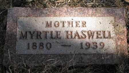 HASWELL, MYRTLE - Burt County, Nebraska   MYRTLE HASWELL - Nebraska Gravestone Photos