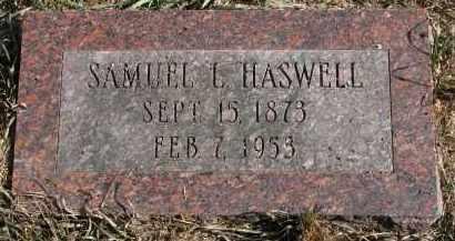 HASWELL, SAMUEL L. - Burt County, Nebraska | SAMUEL L. HASWELL - Nebraska Gravestone Photos