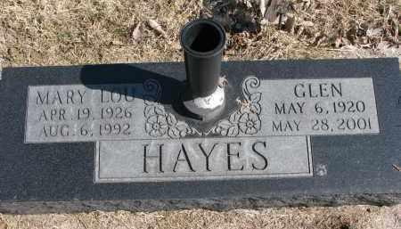 HAYES, GLEN - Burt County, Nebraska | GLEN HAYES - Nebraska Gravestone Photos