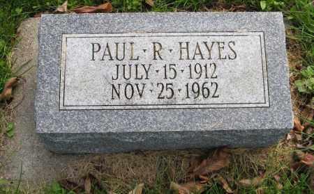 HAYES, PAUL R. - Burt County, Nebraska   PAUL R. HAYES - Nebraska Gravestone Photos