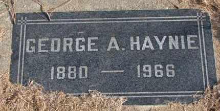 HAYNIE, GEORGE A. - Burt County, Nebraska | GEORGE A. HAYNIE - Nebraska Gravestone Photos