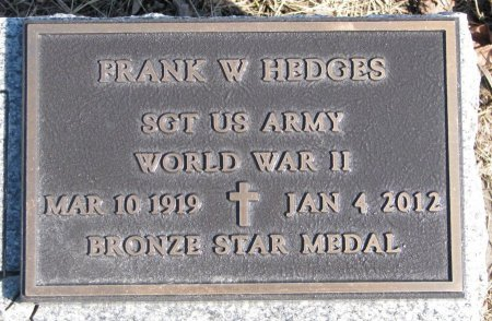 HEDGES, FRANK W. (MILITARY) - Burt County, Nebraska | FRANK W. (MILITARY) HEDGES - Nebraska Gravestone Photos