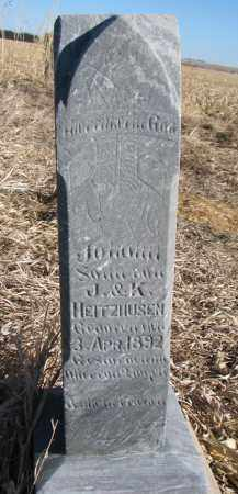 HEITZHUSEN, JOHANN - Burt County, Nebraska | JOHANN HEITZHUSEN - Nebraska Gravestone Photos