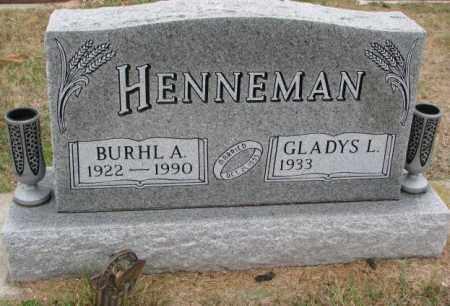 HENNEMAN, BURHL A. - Burt County, Nebraska   BURHL A. HENNEMAN - Nebraska Gravestone Photos