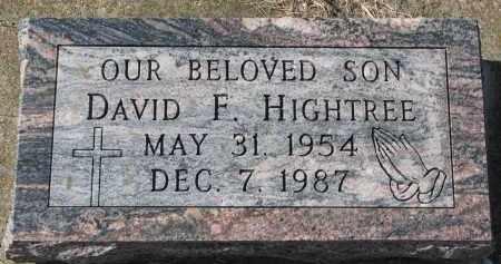 HIGHTREE, DAVID F. - Burt County, Nebraska | DAVID F. HIGHTREE - Nebraska Gravestone Photos