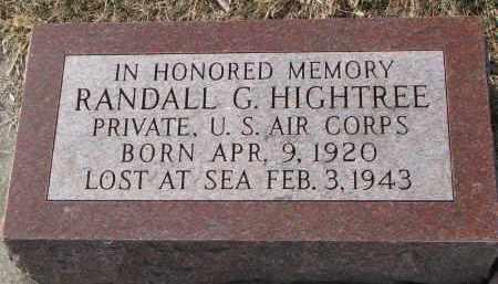 HIGHTREE, RANDALL G. - Burt County, Nebraska   RANDALL G. HIGHTREE - Nebraska Gravestone Photos