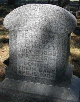 HIGLEY, JESSIE M. - Burt County, Nebraska   JESSIE M. HIGLEY - Nebraska Gravestone Photos
