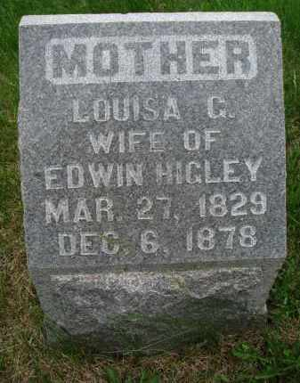 HIGLEY, LOUISA G. - Burt County, Nebraska | LOUISA G. HIGLEY - Nebraska Gravestone Photos