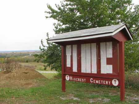 *HILLCREST - DECATUR, GPS & OVERVIEW - Burt County, Nebraska | GPS & OVERVIEW *HILLCREST - DECATUR - Nebraska Gravestone Photos