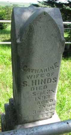 HINDS, CATHARINE - Burt County, Nebraska   CATHARINE HINDS - Nebraska Gravestone Photos