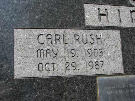 HINDS, CARL RUSH (CLOSEUP) - Burt County, Nebraska | CARL RUSH (CLOSEUP) HINDS - Nebraska Gravestone Photos
