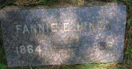 HINDS, FANNIE E. - Burt County, Nebraska | FANNIE E. HINDS - Nebraska Gravestone Photos
