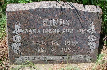BURTON HINDS, SARA IRENE - Burt County, Nebraska | SARA IRENE BURTON HINDS - Nebraska Gravestone Photos