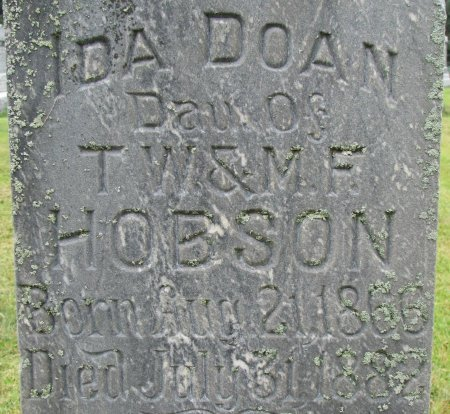 HOBSON, IDA DOAN (CLOSE UP) - Burt County, Nebraska   IDA DOAN (CLOSE UP) HOBSON - Nebraska Gravestone Photos