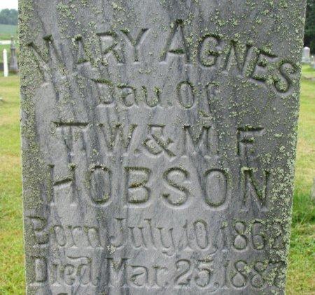 HOBSON, MARY AGNES (CLOSE UP) - Burt County, Nebraska | MARY AGNES (CLOSE UP) HOBSON - Nebraska Gravestone Photos