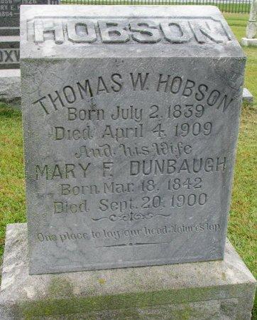 HOBSON, MARY F. - Burt County, Nebraska | MARY F. HOBSON - Nebraska Gravestone Photos