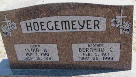 HOEGEMEYER, LYDIA H. - Burt County, Nebraska   LYDIA H. HOEGEMEYER - Nebraska Gravestone Photos