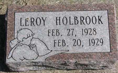 HOLBROOK, LEROY - Burt County, Nebraska | LEROY HOLBROOK - Nebraska Gravestone Photos