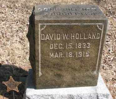 HOLLAND, DAVID W. - Burt County, Nebraska | DAVID W. HOLLAND - Nebraska Gravestone Photos